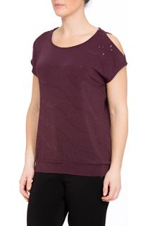 Cold Shoulder Spangle Top