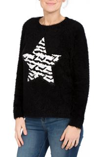 Two Way Sequin Star Christmas Knit Top