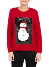 Two Way Sequin Christmas Knit Top