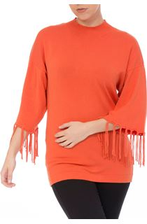 Tassel Cuff Knitted Top