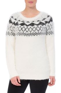 Monochrome Eyelash Knitted Top