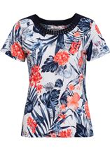 Anna Rose Embellished And Print Top