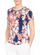 Anna Rose Floral Printed Jersey Top