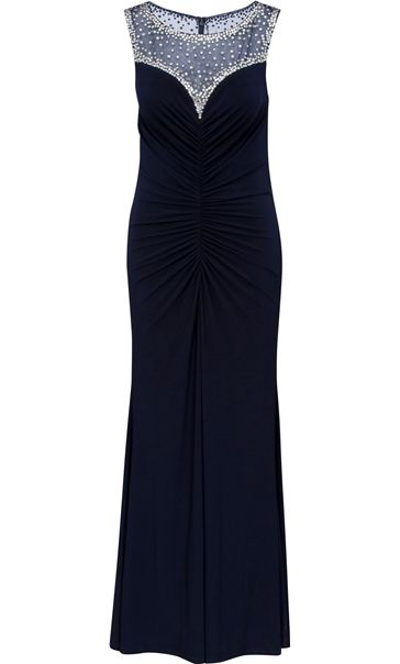 Faceted Crystal Luxury Maxi Dress