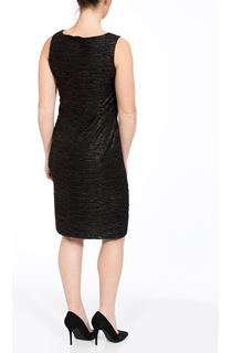 Textured Sleeveless Shimmer Midi Dress