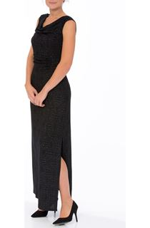 Cowl Neck Sleeveless Sparkle Maxi Dress