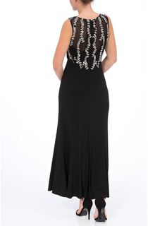 Embellished Sleeveless Maxi Dress - Black