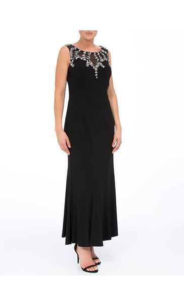 Embellished Sleeveless Maxi Dress