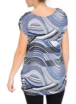 Short Sleeve Swirl Print Loose Fit Tunic