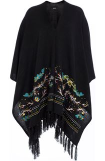Embroidered Knitted Cape