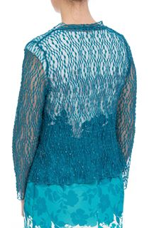 Anna Rose Sparkle Knit Tie Cover Up - Green