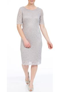 Anna Rose Short Sleeve Fitted Midi Dress