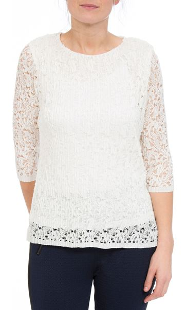Anna Rose Pleated Lace Top