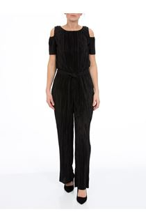 Cold Shoulder Pleated Jumpsuit