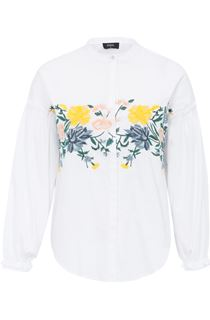 Embroidered Drop Shoulder Cotton Blouse