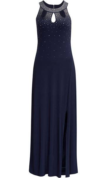 Embellished Ity Sleeveless Maxi Dress