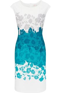 Anna Rose Placement Print Ottoman Midi Dress