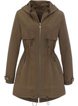 Two Way Zip Hooded Lightweight Coat