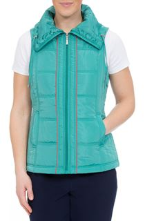 Anna Rose Ruched Collar Gilet - Ocean