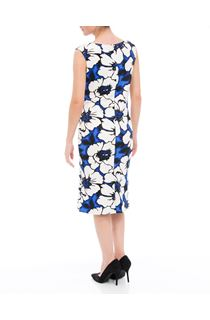 Floral Printed Sleeveless Scuba Midi Dress