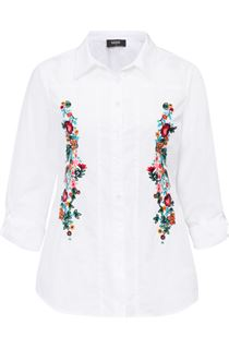 Floral Embroidered Cotton Blouse