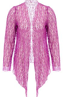 Anna Rose Sparkle Knit Tie Cover Up - Pink