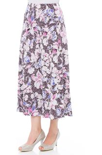 Anna Rose Floral Jersey Midi Skirt