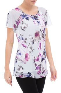 Anna Rose In Bloom Bias Cut Georgette Top