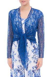 Anna Rose Sparkle Knit Tie Cover Up - Cobalt
