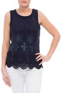 Sequin And Tapework Sleeveless Top