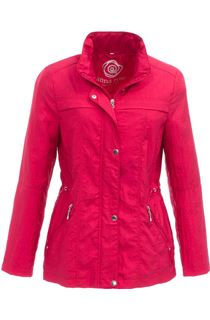 Anna Rose Lightweight Short Coat - Red