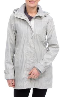 Anna Rose Stripe Waterproof Coat