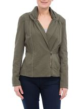 Shawl Collar Zip Cotton Jacket