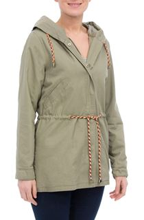 Hooded Cotton Coat - Green