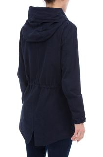 Hooded Cotton Coat - Navy