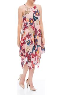 Asymmetric Hem Printed Dress