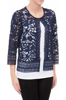 Anna Rose Lace Cover Up - Blue