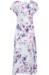 Anna Rose Bias Cut Floral Georgette Dress