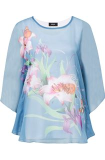 Garden Printed Chiffon Layer Top