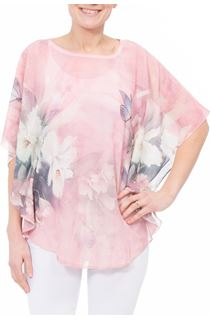 Printed Embellished Chiffon Top
