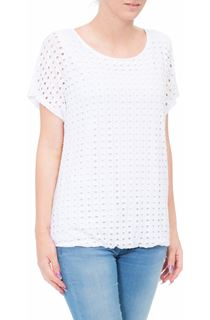 Layered Short Sleeve Top - White