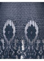 Longline Lace Border Open Cover Up