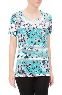 Anna Rose Embellished Butterfly Print Top
