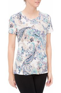 Anna Rose Paisley Print Short Sleeve Top
