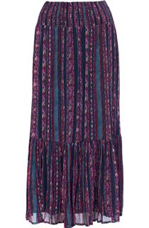 Pull On Georgette Printed Maxi Skirt