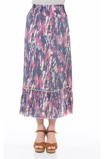 Pull On Printed Georgette Maxi Skirt