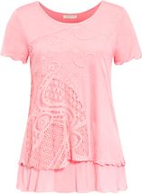 Anna Rose Layered Short Sleeve Top