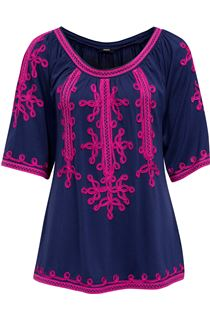 Wide Sleeve Tapework Top