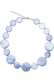 Pearlized Disc Necklace