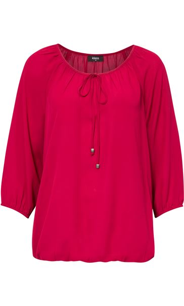 Three Quarter Sleeve Tie Neck Top